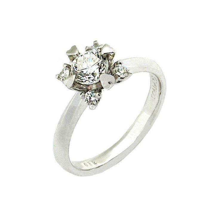 【JHT 金宏總珠寶/GIA鑽石專賣】0.52ct天然鑽石戒指/材質:PT900(D000233)
