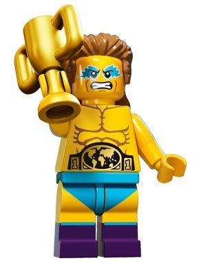 現貨【LEGO 樂高】積木/ Minifigures人偶系列: 15 代人偶包抽抽樂 71011 | 摔角選手 冠軍