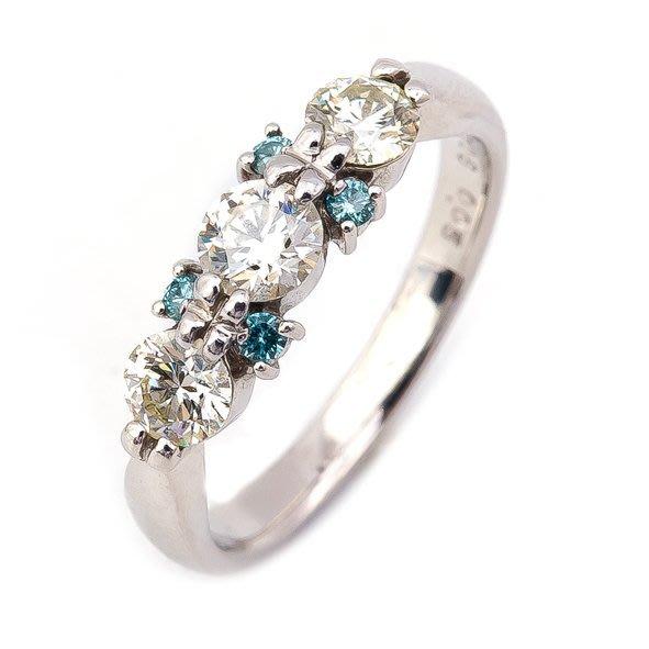 【JHT 金宏總珠寶/GIA鑽石專賣】0.706ct天然鑽石線戒/材質:PT900/(JB27-A01)