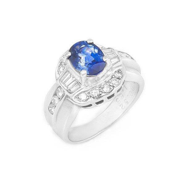 【JHT 金宏總珠寶/GIA鑽石專賣】1.65ct天然藍寶鑽戒/材質:18K(JB8-A36)