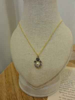 [噗噗 Store]真韓國帶回---韓國水鑽珍珠項鍊