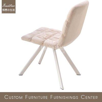 HOME MALL~品味生活米白色布餐椅(B3076)(自取)$1700元(雙北市免運費)6N