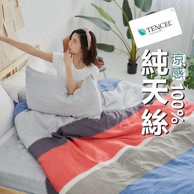 #TCL03#奧地利100%TENCEL涼感40支紗純天絲6尺雙人加大床包舖棉兩用被套四件組(含枕套)限單組超取[SN]