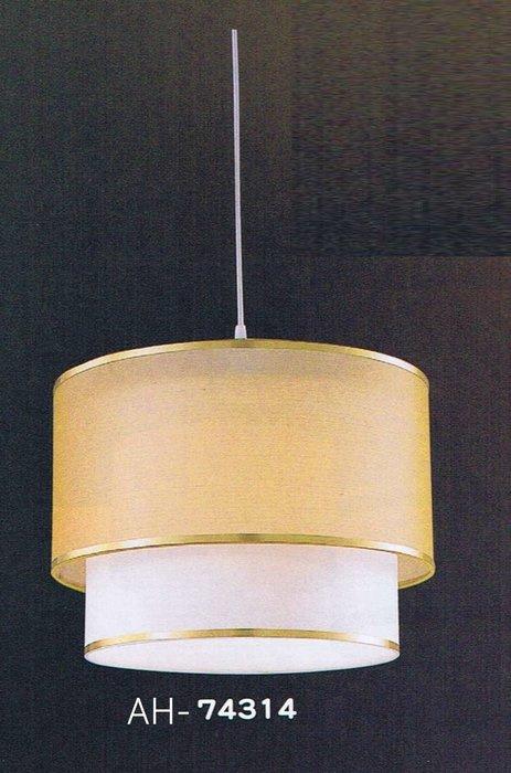 【昶玖照明LED】吊燈系列 E27 居家臥室 客廳陽台 書房玄關餐廳 鋼材鍍鉻 雙層皮罩 3燈 AH-74314