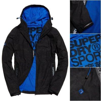 極度乾燥 Superdry Sports Active Shell 連帽 風衣 外套 薄夾克 春夏款 黑點迷彩