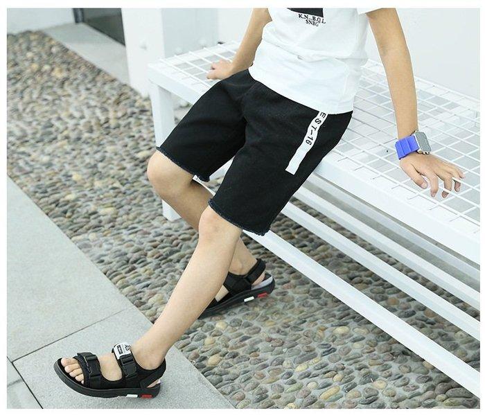 日韓歐美♥韓版 中大男童 熱賣款    口袋 側邊字母 個性款  運動短褲  字母標籤 休閒褲【E696】
