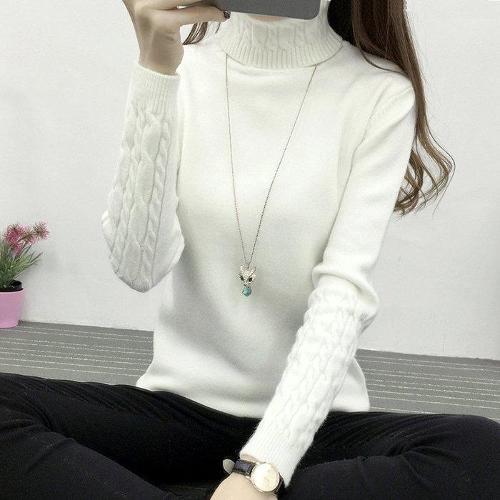 【6692】長袖  韓系高領麻花造型加厚針織上衣☆*藍荳荳小舖*☆(現貨)