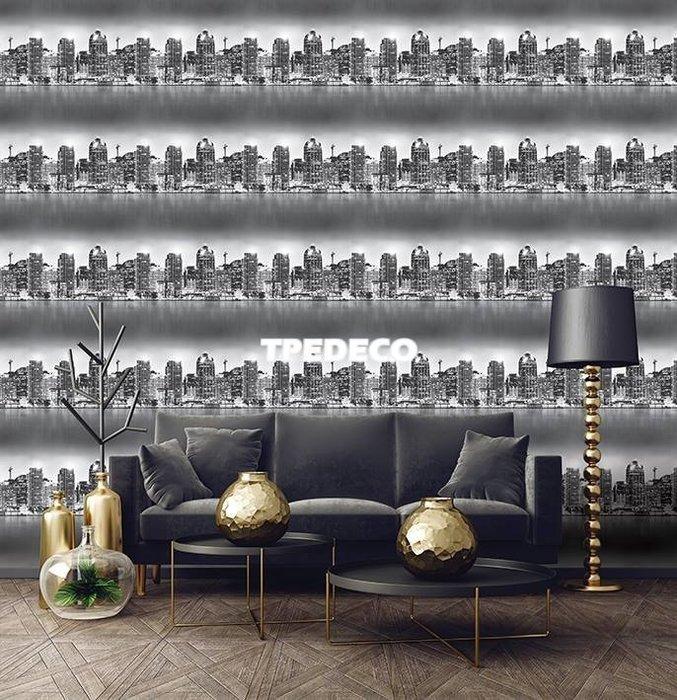 【大台北裝潢】PT馬來西亞現貨壁紙* 環保建材 河岸現代城市 每支580元