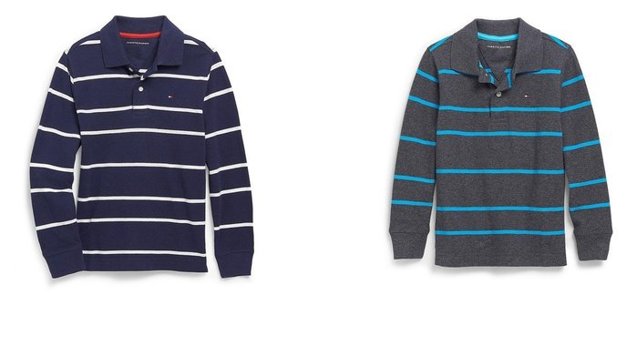 ~Tommy Hilfiger~ STRIPE LONG SLEEVE POLO 長袖 P