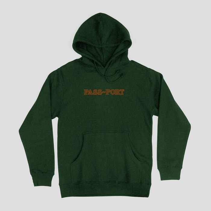 "《Nightmare 》PASS~PORT ""BRICK EMBROIDERY"" HOODIE FOREST GREEN"