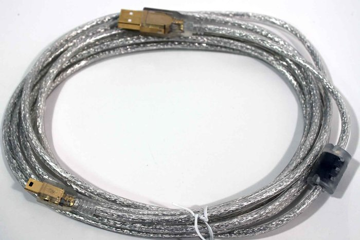 【開心驛站】3米  USB2.0 A公-Micro B公鍍金透明強化線