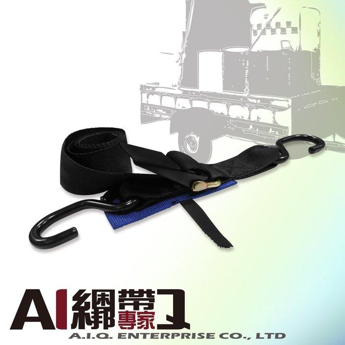 A.I.Q.綑綁帶專家- LT1212農用.居家.汽車快速綁帶 50mm x360cm W/S HOOK (黑色)
