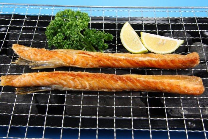 【中秋烤肉系列】挪威鮭魚肚條/約500g~柔嫩肉質含有豐富的油質是中秋烤肉行家的最愛