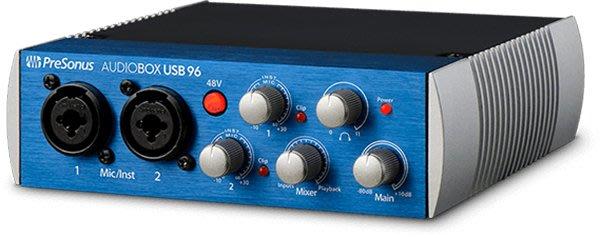 《民風樂府 》美國專業品牌 PreSonus AudioBox USB 96 錄音介面 公司貨  專業音質 隨附軟體