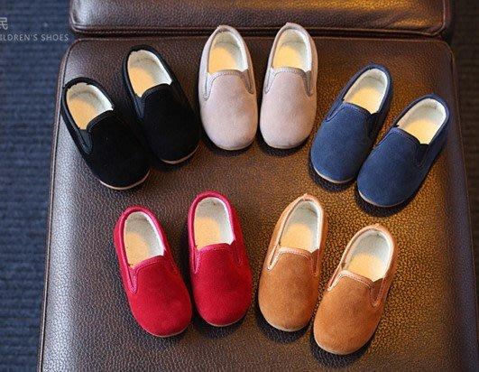 【現貨+預購】韓版冬季童鞋棉鞋圓頭反絨皮雪地靴時尚男童女童鞋