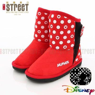 年终出清 大放送 Disney 迪士尼 米妮  童靴 童雪靴 KRM454612R 保暖网布【街头巷口 Street】