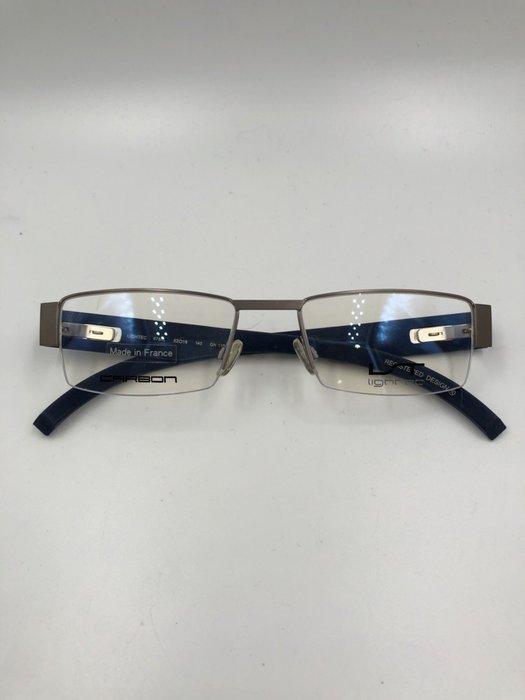 頂傑 Lightec 藍色銀框碳纖維眼鏡 - 6784L