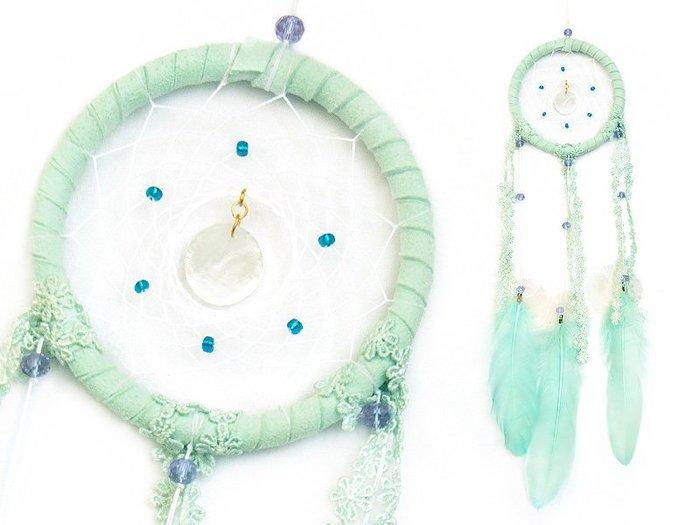 捕夢網 DIY材料包✿薄荷綠色 - 清新風格✿  『繼承者們款式』聖誕節禮物、情人節禮物、交換禮物、生日禮物、畢業禮物