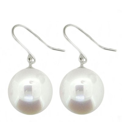 【JHT金宏總珠寶/GIA鑽石專賣】9mm天然珍珠耳環/材質:14k(JB41-B43)