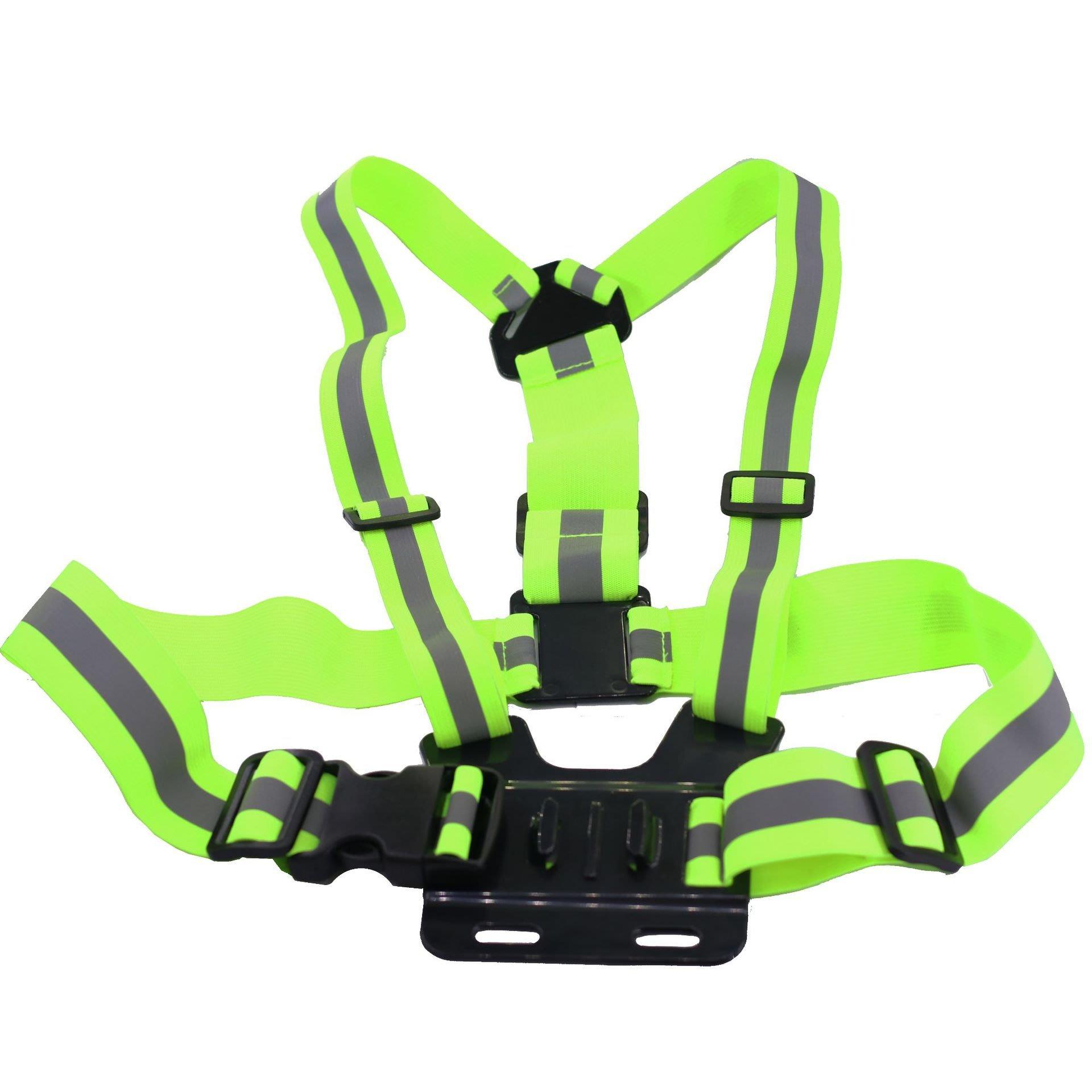 Gopro運動攝影機配件 胸背帶 hero3+ 胸帶 胸前固定肩帶B款 SJCAM SJ4000 M10 螢光綠