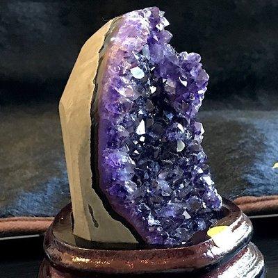 小晶洞 烏拉圭紫水晶 紫晶簇 紫晶花 迷你紫晶洞 辦公小物 風水擺設  貴人 送男友 編號 h-286-2