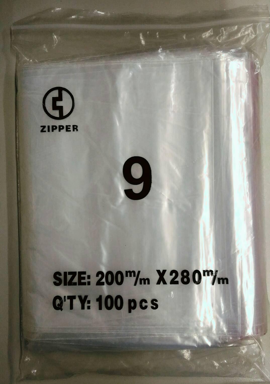 台灣製造 ZIPPER 夾鍊袋 由任袋 9號 200*280*0.04mm 1500pcs(保鮮袋)
