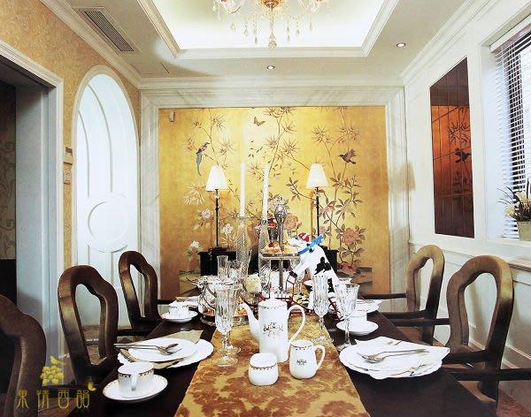 【芮洛蔓 La Romance】手繪絲綢金銀箔壁紙 R011