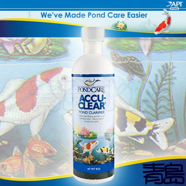 B。。。青島水族。。。D221美國API魚博士---PONDCARE ACCU-CLEAR 池塘水質清澈劑==473ml