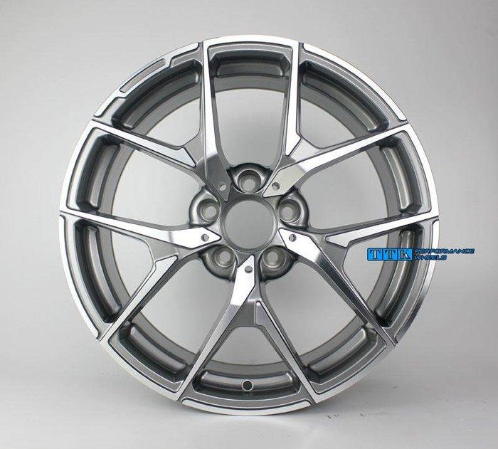 【美麗輪胎舘】2018新款 類AMG 新款 18吋 賓士全車系適用 前後配 8J + 9J 灰車面