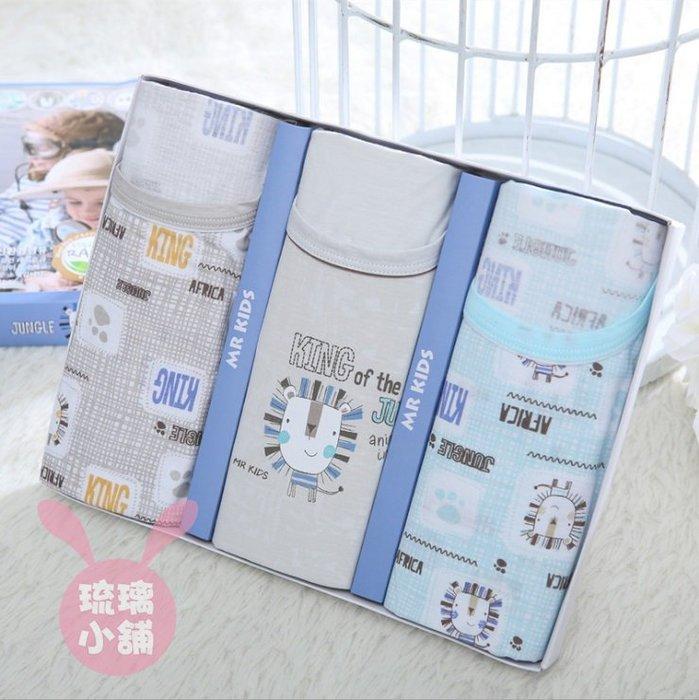 《琉璃的雜貨小舖》韓國 可愛小獅子 純棉男童背心三件組