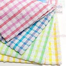 四入抹布 清潔布 家事布100%純棉 安全不擔心喔 主婦的好幫手~格子  KwanStor