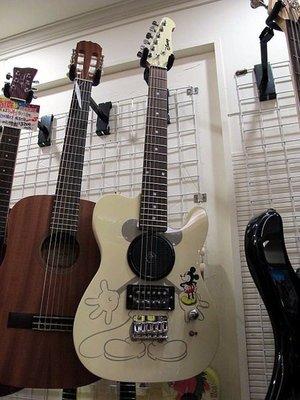 ☆ 唐尼樂器︵☆正版迪士尼 Micky 米老鼠 30吋 迷你電吉他/旅行電吉他/兒童電吉他(極推薦)