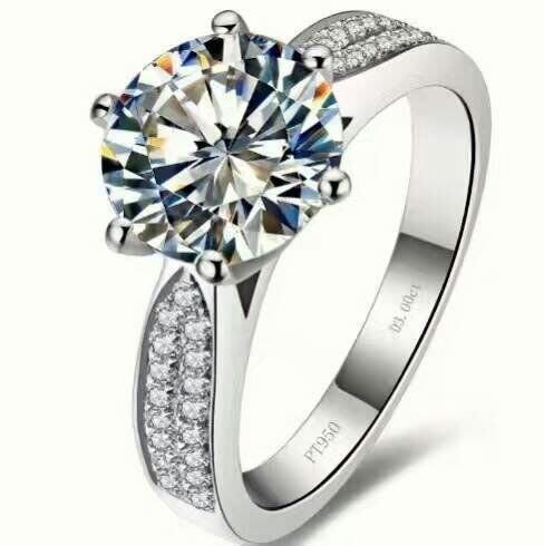 仿真鑽石高碳鑽戒十心十箭3克拉 星光微鑲戒臂肉眼難辨真假鉑金質感求婚訂婚結婚特價 優惠人氣百年經典戒指鉑金質感 ZB鑽寶