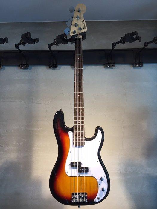 【六絃樂器】全新精選 Bensons P型 漸層色電貝斯 / 附配件 現貨特價