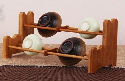 【Art in THE】天然竹茶架 孟宗竹手工製作雙層竹製茶杯架 功夫茶杯架 茶道用具