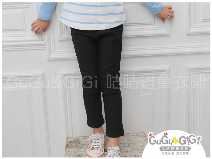 【RG5122363】秋冬款~素面百搭加厚黑色鉛筆褲$99