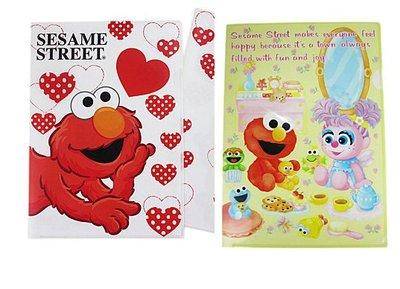 【卡漫迷】 Elmo L型 資料夾 兩入組 ㊣版 Sesame Street 芝麻街 餅乾怪獸 文件夾 檔案夾 日製