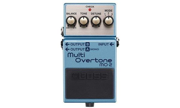 【六絃樂器】全新 Boss MO-2  Multi Overtone 多重泛音效果器 / 現貨特價