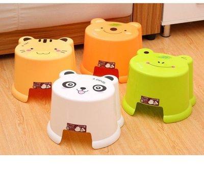卡通兒童凳 寶寶加厚塑料凳洗衣墊腳椅子板凳矮凳浴室防滑凳 -小號