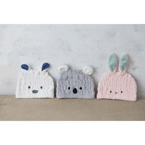 日本進口 [Carari Zooie] 可愛動物超細纖維吸水速乾 兒童乾髮帽/速乾髮帽