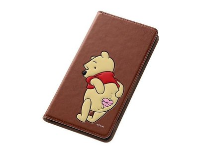 尼德斯Nydus~* 日本Disney 迪士尼 小熊維尼 Pooh 翻頁式 手機殼 Sony Z3 座充對應ok