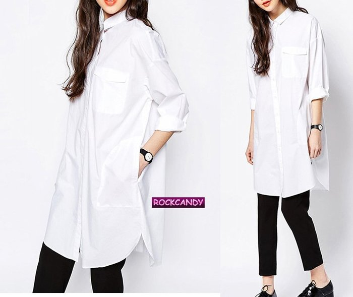 長 版 白 襯衫 女