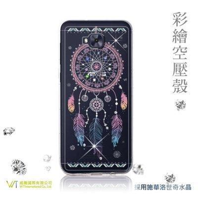 【WT 威騰國際】WT® ASUS ZenFone 4 ZD552KL 施華洛世奇水晶 彩繪空壓殼 -【幸運】