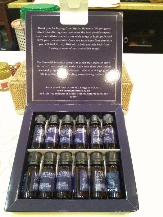英國空運原裝瓶純精油禮盒,一組12瓶(每瓶10ml) 限量特價優惠1580元