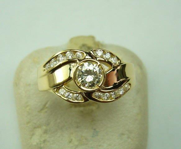 [吉宏精品交流中心]31分南非天然鑽石戒指(鑽戒)