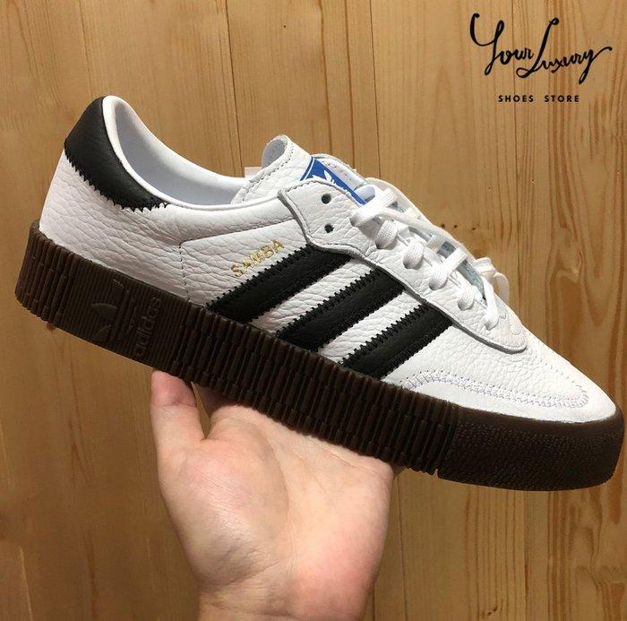 【Luxury】Adidas Originals Samba Rose AQ1134 白色 皮革 焦糖底 餅乾鞋 厚底鞋