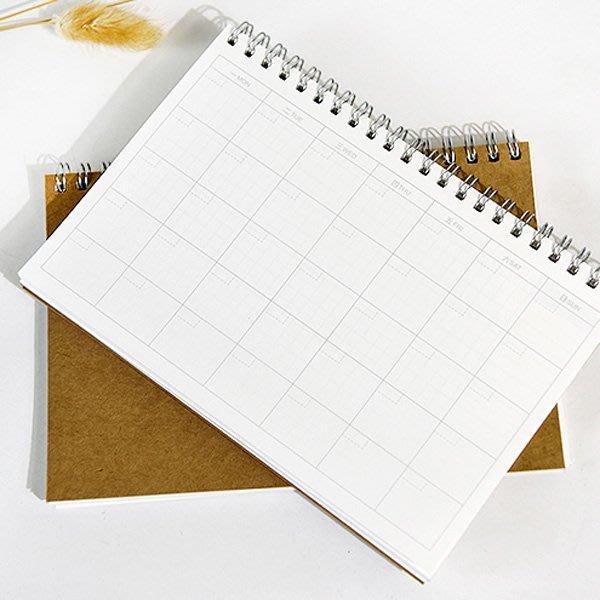 《Jami Honey》【JC2652】 牛皮紙月計畫本 筆記本 記事本