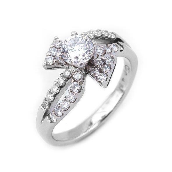 【JHT 金宏總珠寶/GIA鑽石專賣】0.45ct天然鑽石戒指/材質:18K(D000191)
