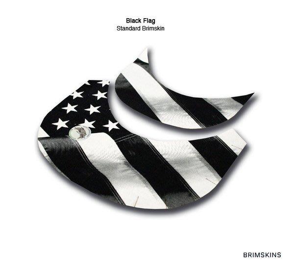 GOODFORIT / 美國Brimskins客製帽簷布材貼布/完美結合任一Snapback帽簷/Black Flag