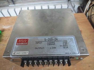 明緯 MW 電源供應器 S-200-24 變壓器 DC24V 8.5A